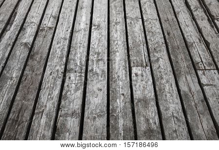 Natural Gray Wooden Floor. Background