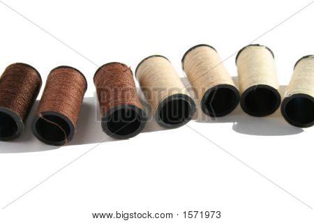 Brown Cotton Reels