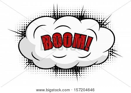 Boom comics icon isolated on white background