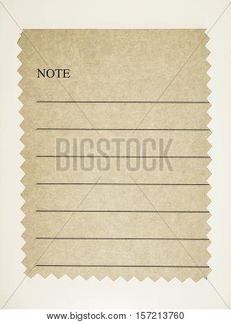 Vintage Looking Brown Paper Sample