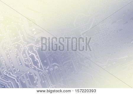 Pcb Board Integrated Circuit Pc Parts Motherboard Chip Processor Texture Backdrop. Toned Into Light