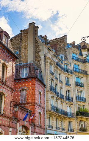 historic buildings on the Ile de la Cite in Paris, France