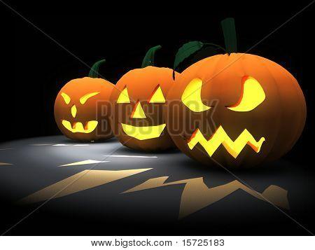 Halloween three pumpkin