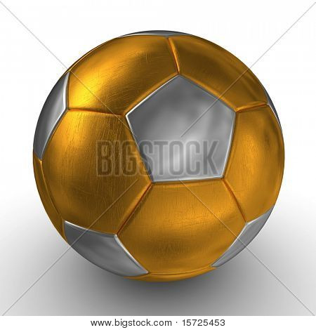 Gold soccer ball - scratch