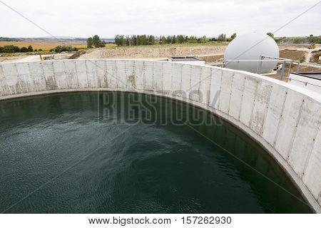 Modern Urban Wastewater Treatment Plant Tank