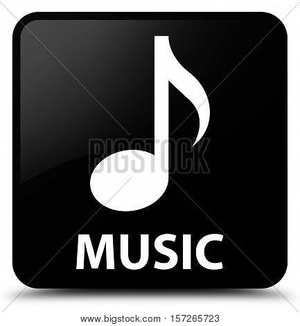 Music (music icon) on black square button