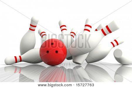 Bowling - exacto del golpe