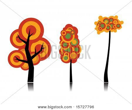 Conceptual autumn tree