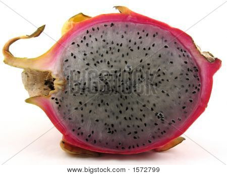 Dragon Fruit Sliced In Half
