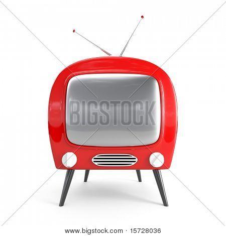 Stylish retro TV - isolated