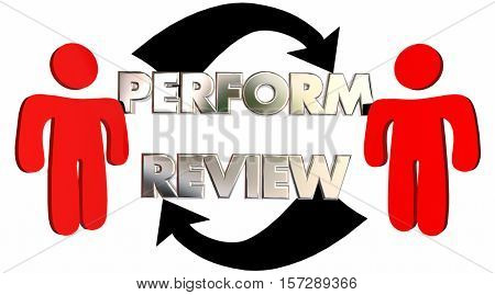 Perform Review Employee Evaluation Feedback 3d Illustration