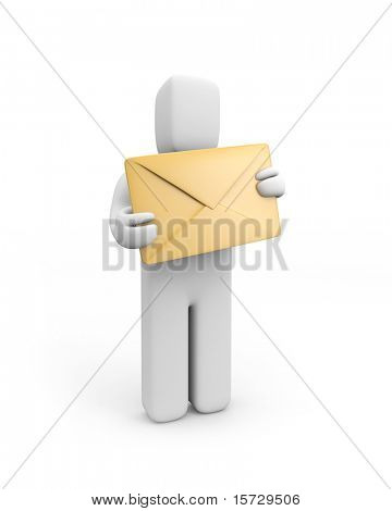 Person hold envelope