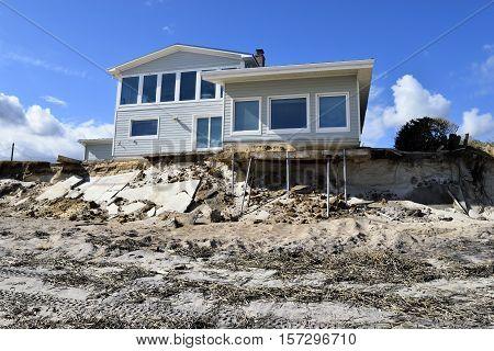 Vilona beach florida usa image photo bigstock for Beach houses on the east coast