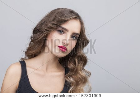 Sceptic Woman With Long Brown Hair