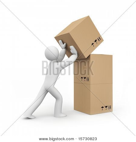 Warehouse services concept. Business concept. Isolated on white.