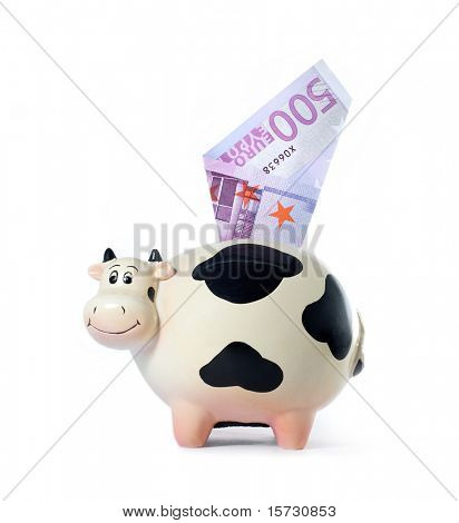 Money box. Cow  symbol of 2009 year
