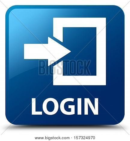 Login ( Sign in ) blue square button