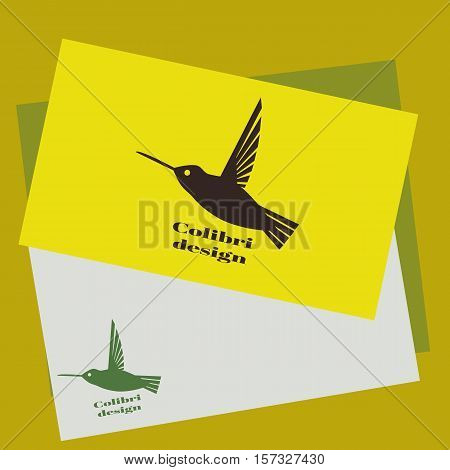 Colibri Logo. Hummingbird Identity Design Template. Vector Illustration For Your Company.