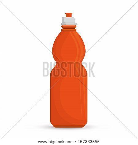 orange bottle water hydration sport vector illustration eps 10