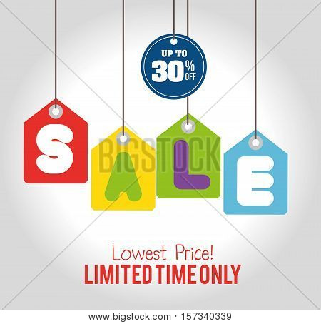 sale limited time only discount sale tags hanging vector illustration eps 10