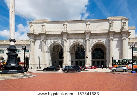 WASHINGTON D.C.,USA - AUGUST 17,2016 : Union Station, the historic train and bus station in Washington D.C.