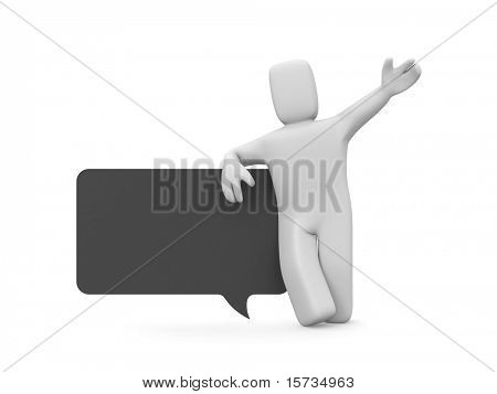 Person with speech bubble
