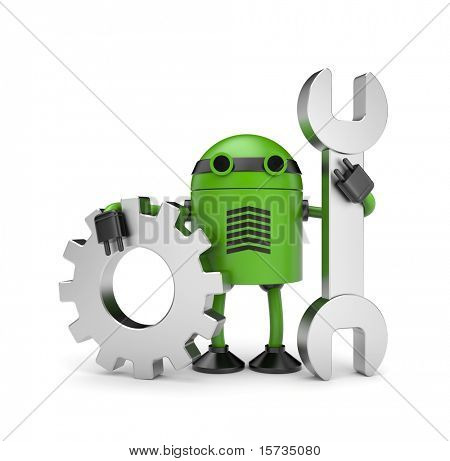 Robot worker with gear