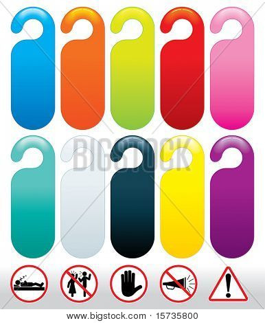 Colorful template of Do not Disturb Sign