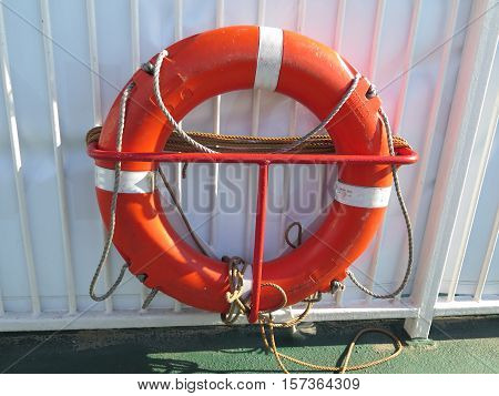 Life Belt On Ferry