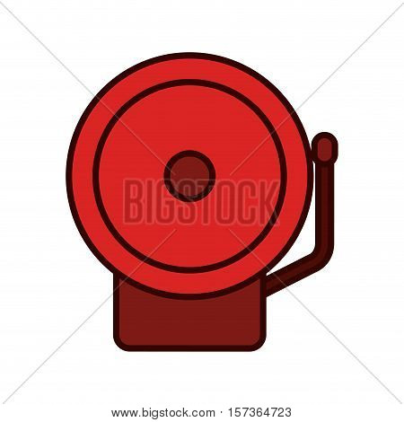 color silhouette with fire alarm vector illustration