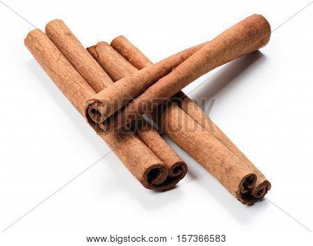 Cinnamon Stick On White Background