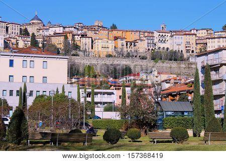 panoramic view of the city of Bergamo