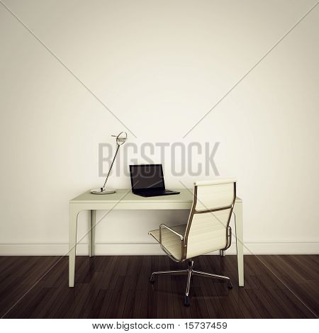 modern Contemporary comfortable interior interior office 3d