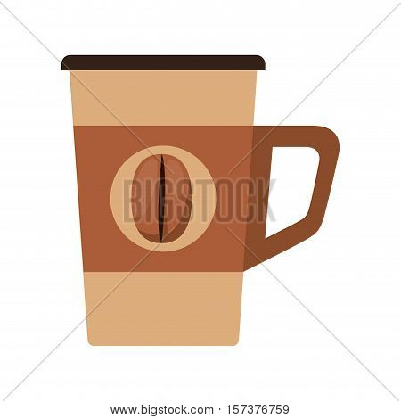 glass disposable for hot drinks with handle vector illustration