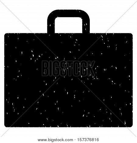 Case grainy textured icon for overlay watermark stamps. Flat symbol with dirty texture. Dotted vector black ink rubber seal stamp with grunge design on a white background.