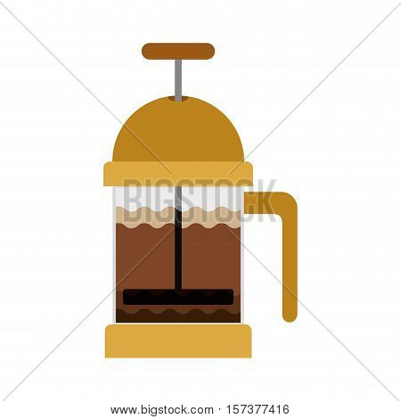 coffee grinding jarra with crank vector illustration