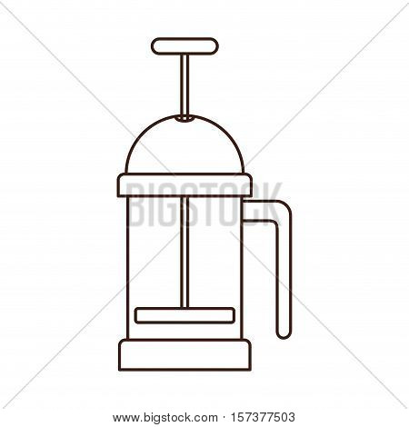 silhouette coffee grinding jarra with crank vector illustration