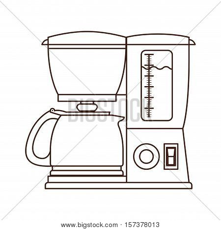 silhouette coffee maker with glass jar vector illustration