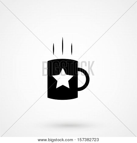 Coffee Cup Icon Simple Design On A White Background. Vector Illustration