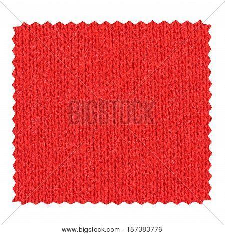 Red Zigzag Fabric Sample