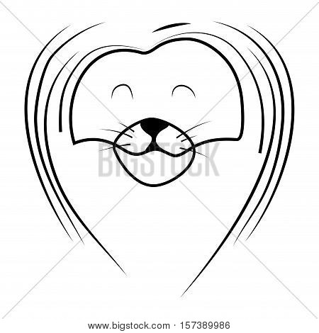 Sketch of lion head with mane. Lion tattoo king. Vector illustration