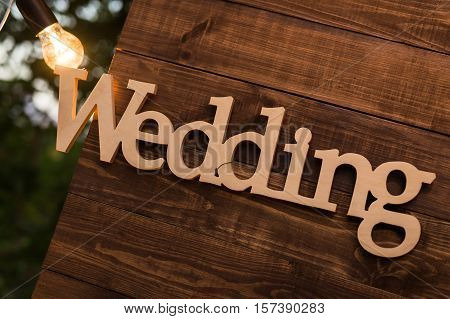 Wooden Plaque Wedding