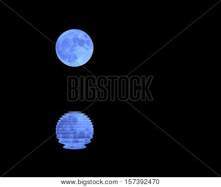 Moon In The Dark Sky On A Night