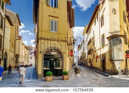 Crossroad Of The Via Della Spada And The Via Del Sole, Florence
