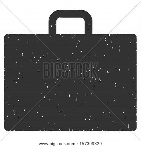 Case grainy textured icon for overlay watermark stamps. Flat symbol with unclean texture. Dotted vector gray ink rubber seal stamp with grunge design on a white background.