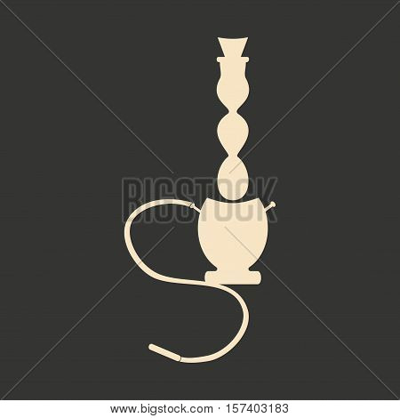 Flat in black and white mobile application hookah shisha