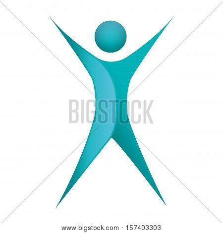 silhouette abstract figure human with complete body vector illustration