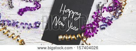 New Years Eve Background with white card
