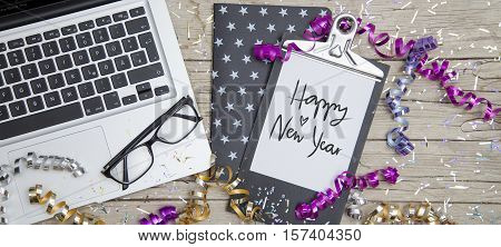 New Years Eve Business Card