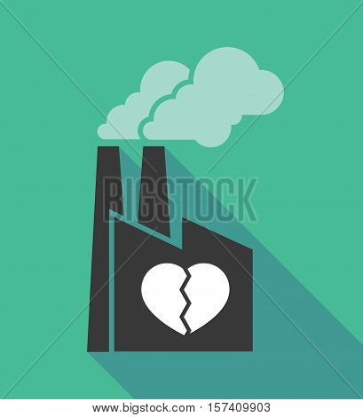 Factory Icon With A Broken Heart